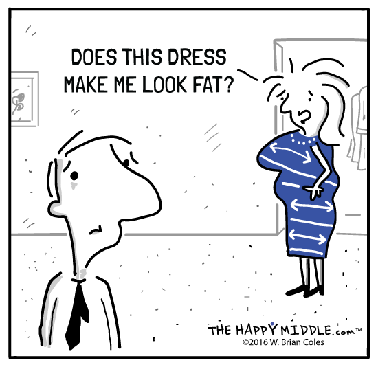 Does this dress make me look fat? -TheHappyMiddle.com
