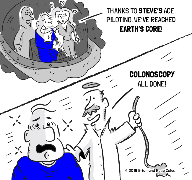Colonoscopy Joke Archives The Happy Middle Comics By W Brian Rose Coles