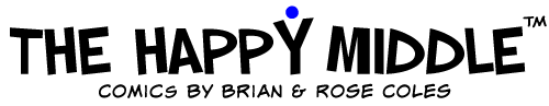 The Happy Middle – Comics by W. Brian & Rose Coles Logo
