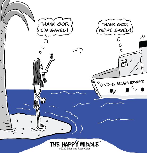 Desert Island Cartoon