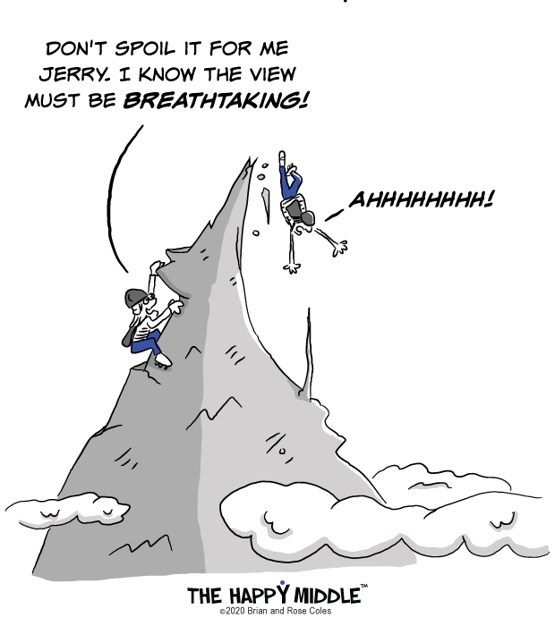 Mountain Climbing Cartoon