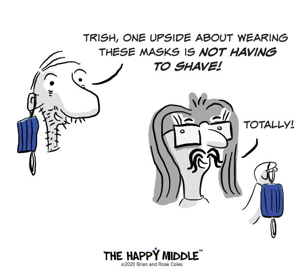 Covid Mask Cartoon